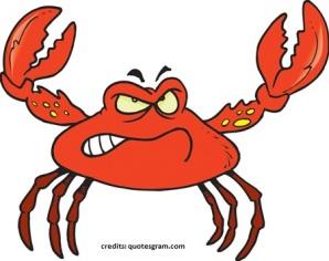 Funny crab cartoon 1